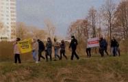 Партизаны Серебрянки прошли молчаливым маршем