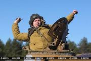Танковые учения возле границы с Польшей