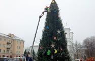 Фотофакт: Как в Бресте нарядили новогоднюю елку за $30 тысяч