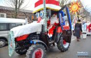 Агротрэш: Дед Мороз и Снегурочка проедут по перекрытому проспекту на тракторе
