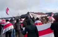 Партизаны Боровлян вышли на вечернюю цепь солидарности