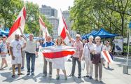 Белорусы в США приобрели здание, чтобы повесить бело-красно-белый флаг