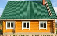 Белорус своими руками построил бревенчатый экодом на Вилейском водохранилище